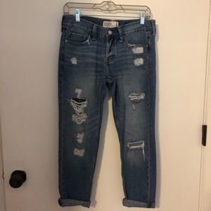 A & F Women's Distressed Boyfriend Jeans Size 2